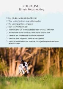 Die Checkliste für ein Fotoshooting.