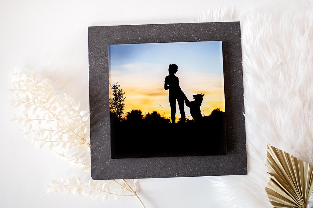 Schwebendes Foto hinter Acryglas als sehr edles Wandprodukt.